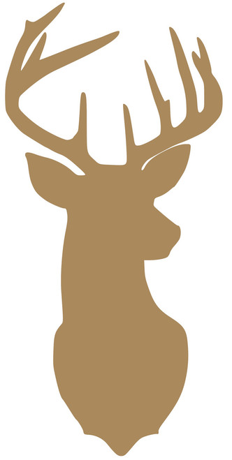 "Deer - Rack Stag 9-point Mule White-Tailed Elk Vinyl Decal Sticker 11.5"" x 5.5"""