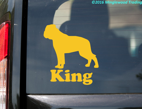 AMERICAN BULLDOG Vinyl Sticker with Personalized Name - Dog Puppy Bully - Die Cut Decal