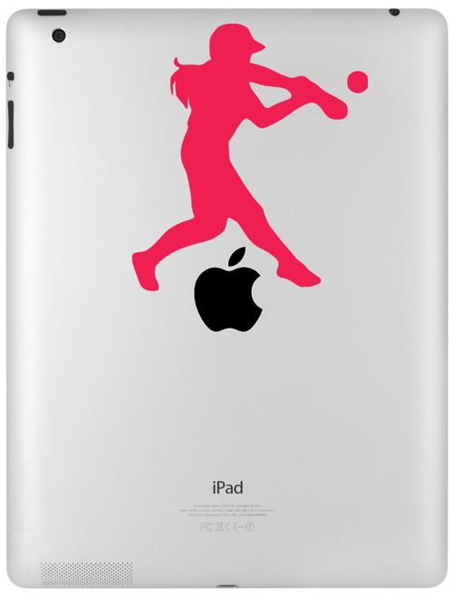 "Softball Hitter Vinyl Decal Sticker 5"" x 4.5"" Fastpitch iPad"