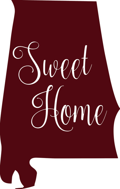 "Alabama State Vinyl Decal Sticker 6"" x 3.5"" Sweet Home"