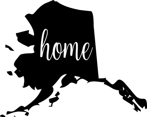 "Alaska State Vinyl Decal Sticker 7"" x 5.5"" Home - Last Frontier"