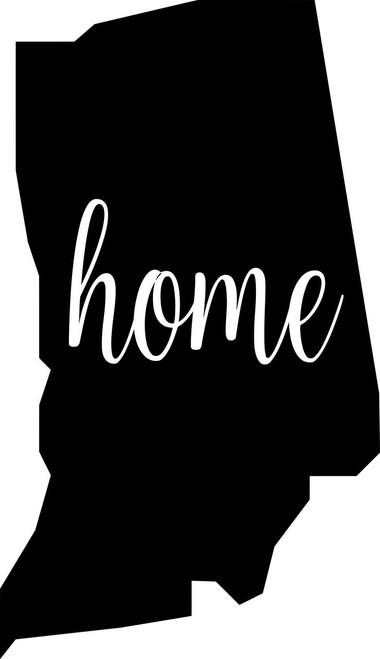 "Indiana State Vinyl Decal Sticker 6"" x 3.5"" Home IN Hoosier"