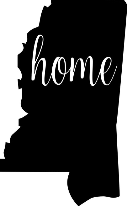 """Mississippi State vinyl decal sticker 6"""" x 3.75"""" MS home"""