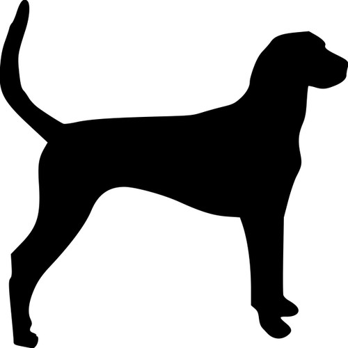 FOXHOUND Vinyl Sticker  Dog Puppy American English - Die Cut Decal