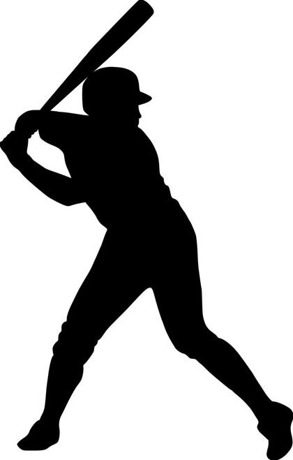 "Baseball Batter vinyl decal sticker 3.5"" x 5.5"" Player Hitter Little League v2"