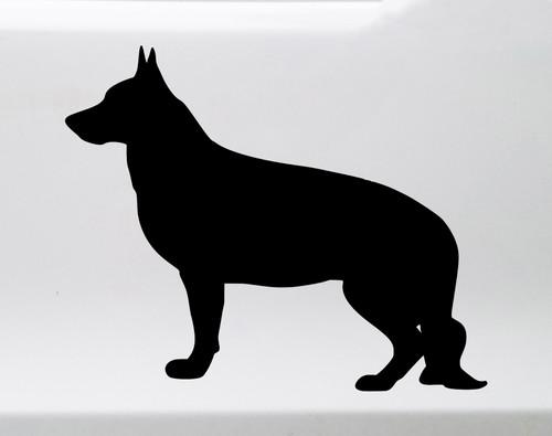German Shepherd Vinyl Decal - V2 Standing Dog GSD K9 - Die Cut Sticker