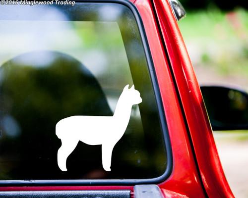 Alpaca Vinyl Decal - Camel Llama Suri Huacaya - Die Cut Sticker