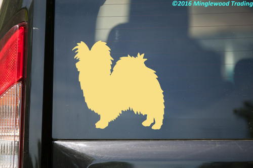 "Papillon vinyl decal sticker 5"" x 5"" Butterfly Dog Continental Toy Spaniel"