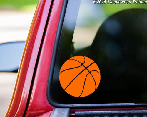 Basketball Vinyl Sticker - Youth Hoops Sports - Die Cut Decal