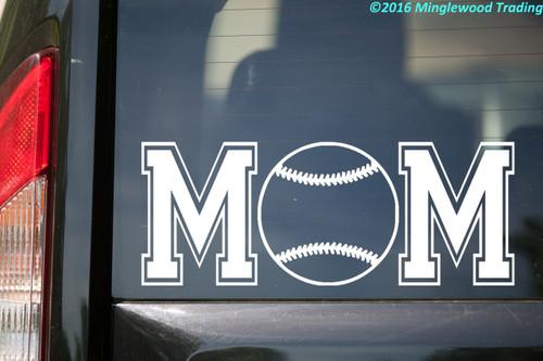 "Softball Mom custom vinyl decal sticker 11"" x 4.25"" Travel Ball  Sports"