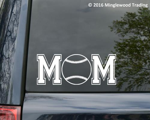 "Softball Mom custom vinyl decal sticker 7"" x 2.75"" Travel Ball Sports"