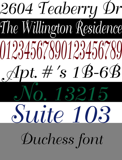 """Custom Lettering - Office House Entrance Address Numbers - 3.5"""" x 23"""" max - Name Door Mailbox Porch vinyl decal sticker"""