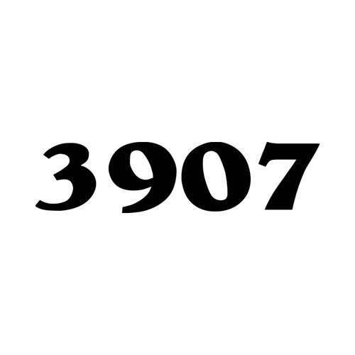 "Custom Mailbox Numbers Vinyl Decal 1"" tall  - House Lettering Name - Die Cut Sticker"
