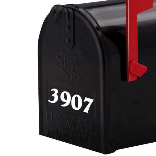"Custom Mailbox Numbers or House Lettering Name vinyl decal sticker 4"" x 1"""