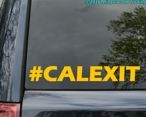"#CALEXIT vinyl decal sticker 8"" x 1"" California Independence CALEXIT Trump"