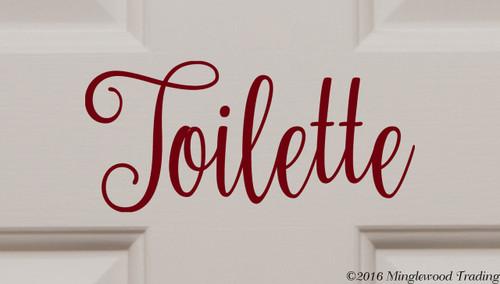 """Toilette vinyl decal sticker 7.5"""" x 3.5"""" Bathroom Door Sign Restroom Toilet"""
