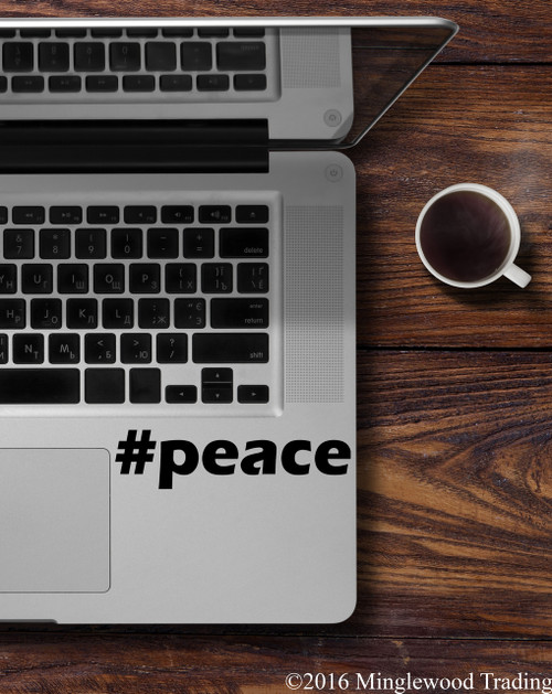 #peace Peace Hashtag Vinyl Decal - Hope Love - Die Cut Sticker