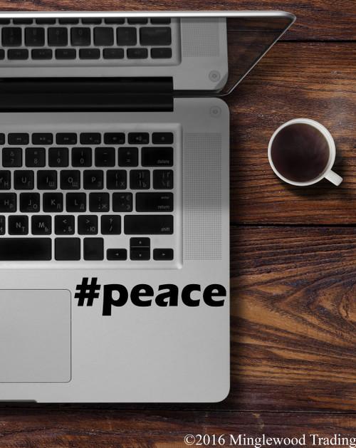 #peace Peace Hashtag Vinyl Decal - Hope Love - Die Cut Sticker
