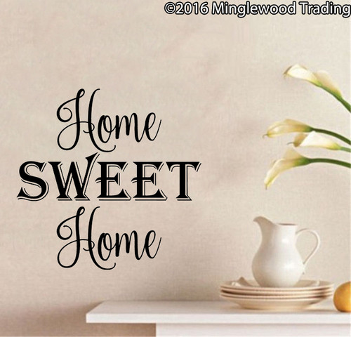 HOME SWEET HOME Vinyl Sticker - Wall Decor - Die Cut Decal