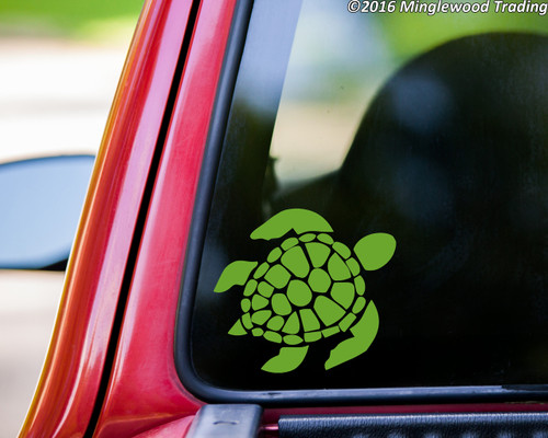 "Sea Turtle vinyl decal sticker 5"" x 4.5"" Leatherback"
