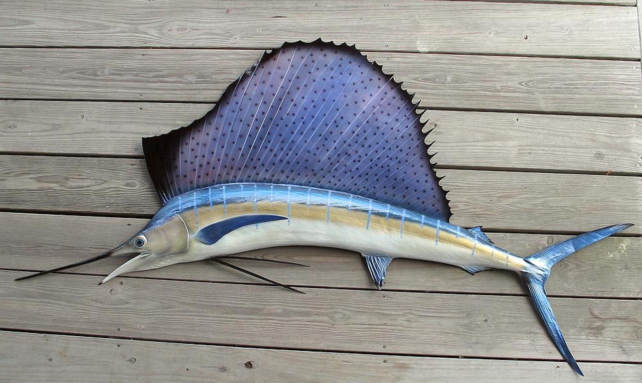 Sailfish 77L inch half mount fibergl fish replica on
