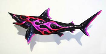 Blacktip Shark with custom flame paint CUSTOM ORDER