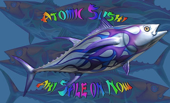 Ultra Tuna 55 inch half mount with purple and blue Flames
