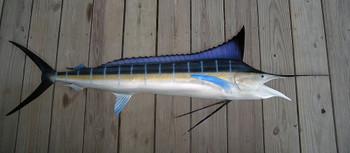 Blue Marlin 74R inch half mount fiberglass fish replica