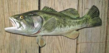 Largemouth Bass 17 inch Full Mount Fiberglass Fish Replica