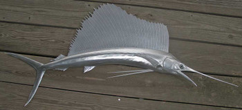 Fish Mount Design Concepts-Silver Sailfish Replica