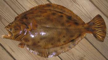 Flounder 24 inch half mount fiberglass fish replica
