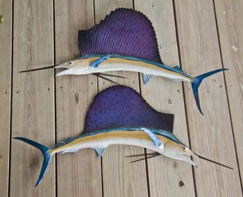 Sailfish 36LR inch half mount fiberglass fish replica