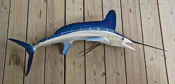 White Marlin 60R inch full mount fiberglass fish replica