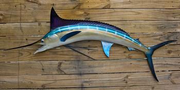 Blue Marlin 55 inch half mount fiberglass fish replica