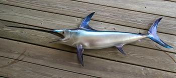 Swordfish fiberglass fish replica