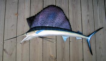 Sailfish 57 inch half mount fiberglass fish replica
