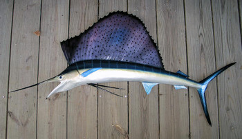 Sailfish 57 inch half mount fiberglass fish replica