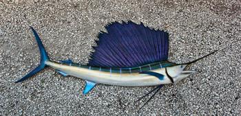 Sailfish 84R inch half mount fiberglass fish replica