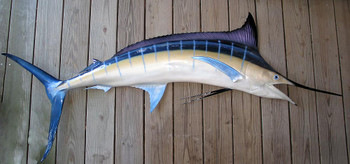 Blue Marlin 89R inch half mount fiberglass fish replica