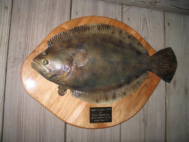 Flounder trophy plaque