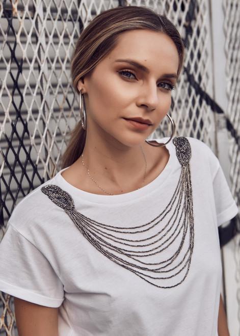 Luxury Silver Collar