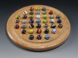 Round Marble Solitaire - Alder