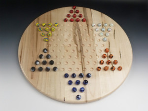 Wooden Chinese Checkers Game Ambrosia Maple