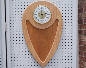 Mahogany large wall clock curly mahogany insert