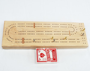 Maple 2 Player Cribbage Board