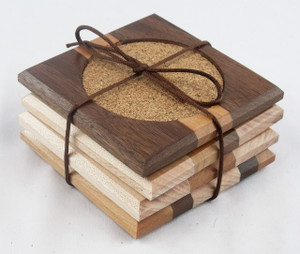 Wooden coasters - Set of 4 - reclaimed wood