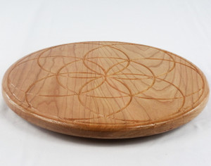 Cherry Seed of Life Lazy Susan