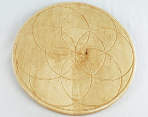 Birdseye Maple Seed of Life Lazy Susan