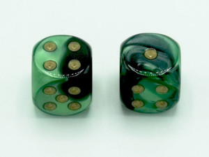 16mm d6 Gemini Black-Green