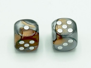 16mm d6 Gemini Copper-Steel dice